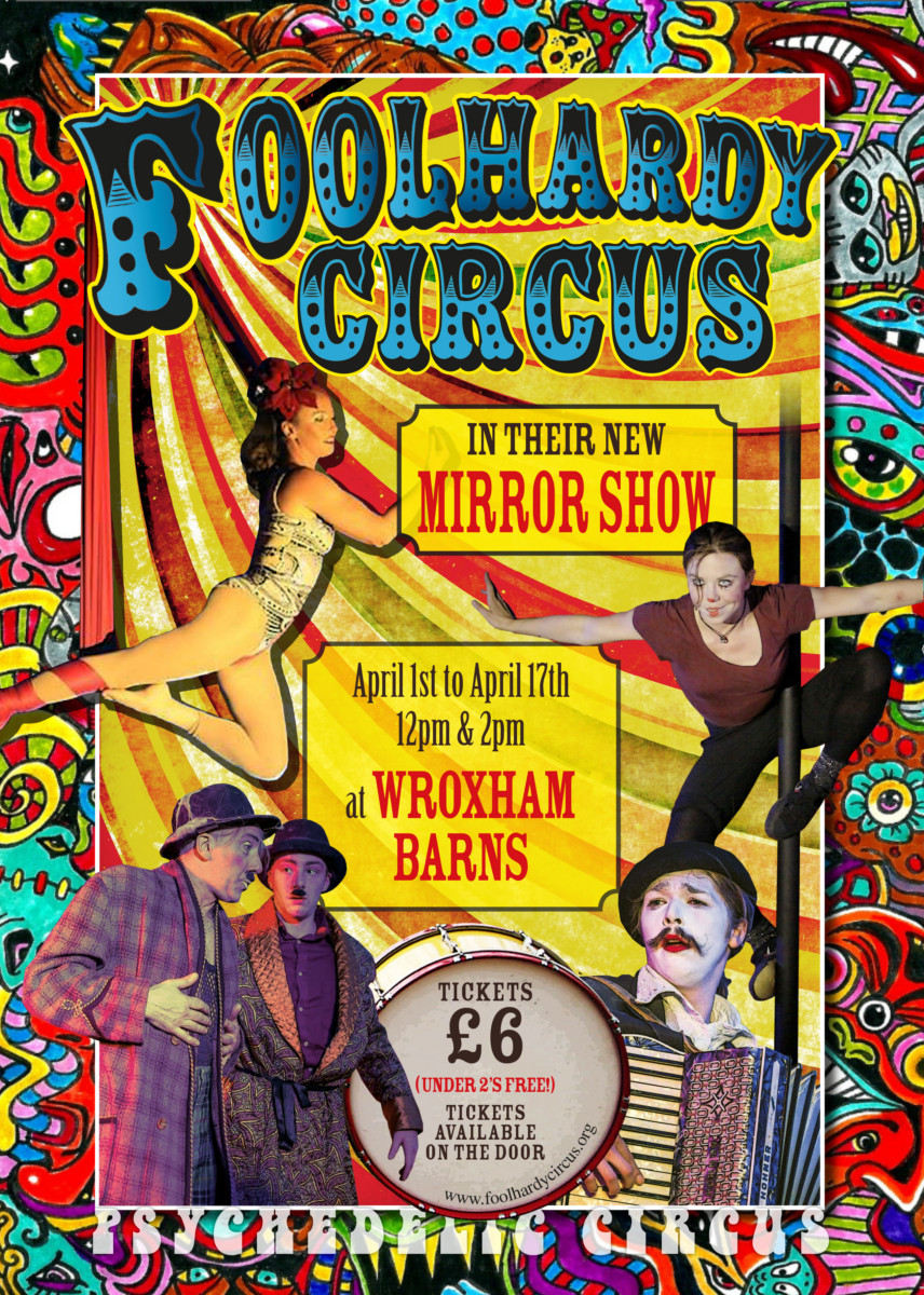 Foolhardy Circus Poster April Mirror Show V3