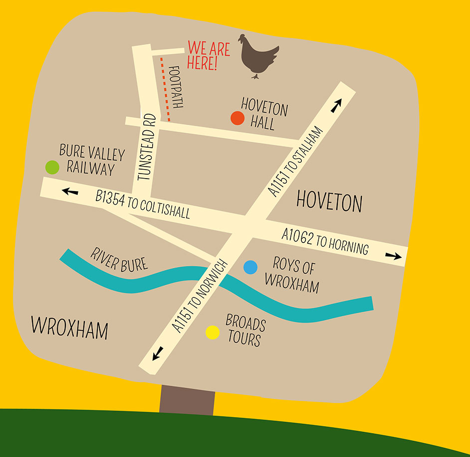 How To Find Us Wroxham Barns - How to find us map