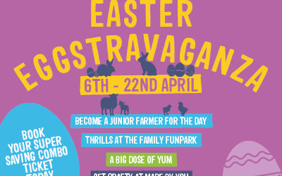 Hop on down to our Easter Eggs-travaganza  Saturday 6th to Monday 22nd April