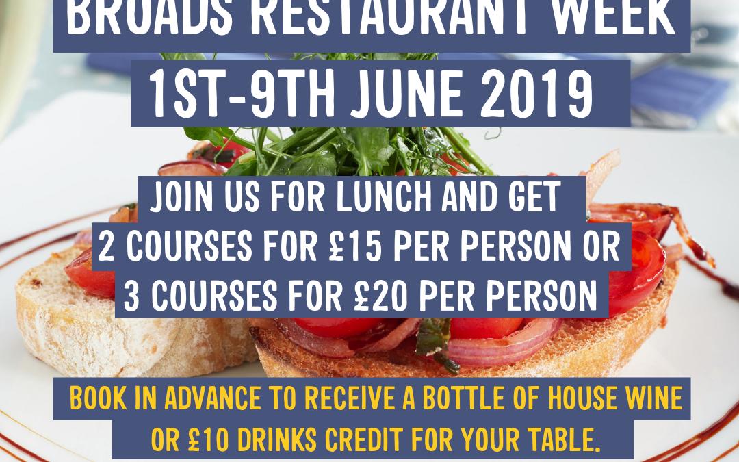 Broads Restaurant Week