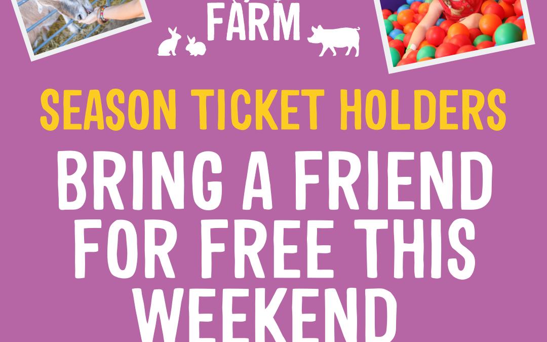 Bring A Friend Weekend – 2nd & 3rd November
