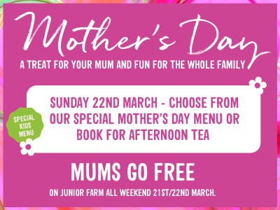 Mother's Day Weekend at Wroxham Barns
